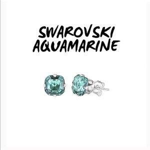 Jewelry - SWAROVSKI AQUAMARINE STUDS